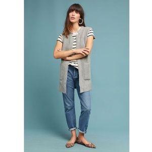 ANTHRO MOTH | Bismarck Gray Sweater Vest Cardigan